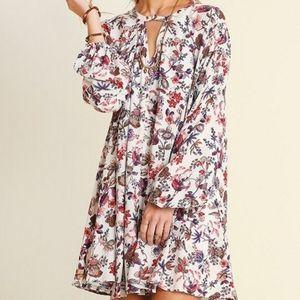 Umgee Floral Trapeze Dress